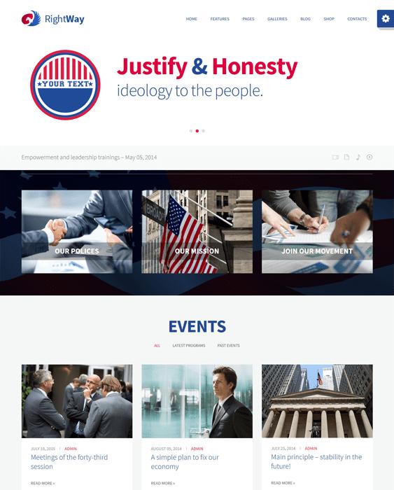troika politics political candidates wordpress themes