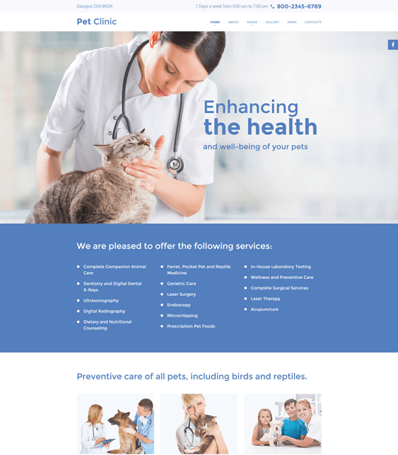 vet medical joomla templates
