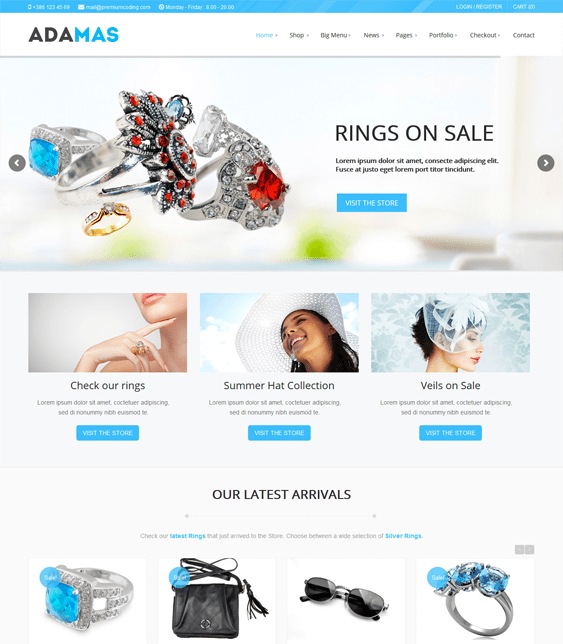 adamas jewelry wordpress themes