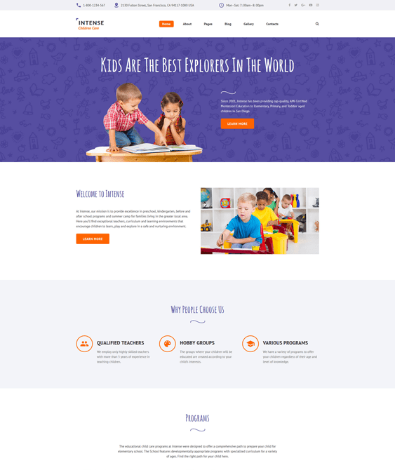 children kids joomla templates