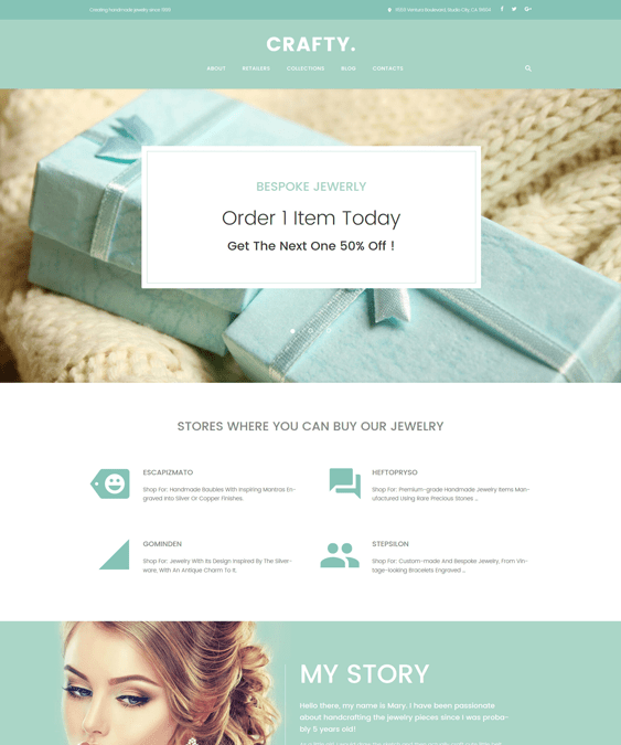 crafty jewelry wordpress themes