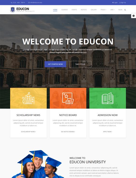 educon education joomla templates