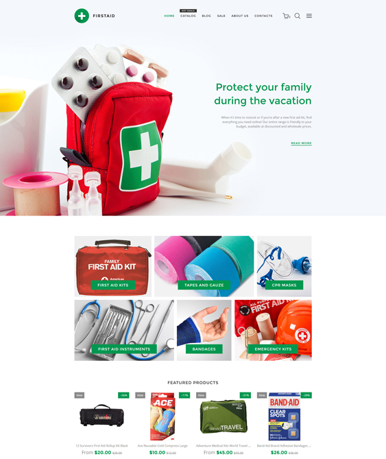 firstaid responsive shopify themes 2017