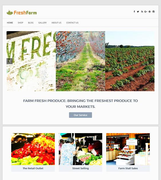 fresh farm agriculture websites wordpress themes