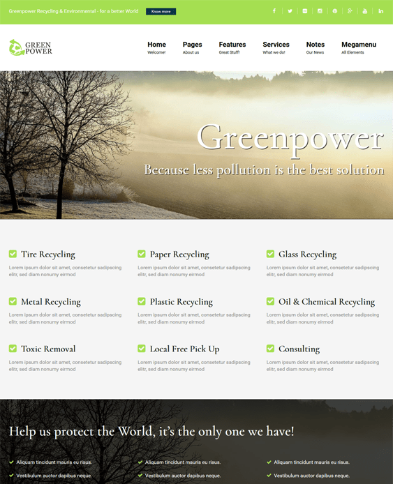 greenpower green organic eco friendly wordpress themes