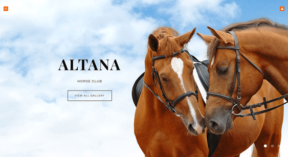 horse sports joomla templates