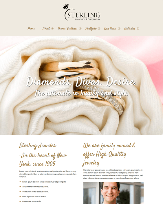 sterling jewelry wordpress themes