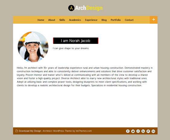 archdesign architect wordpress themes
