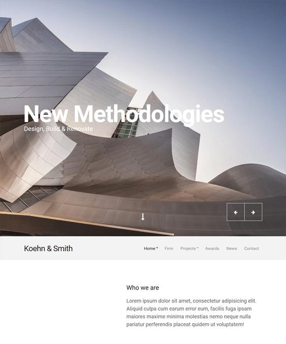 koehn architect wordpress themes