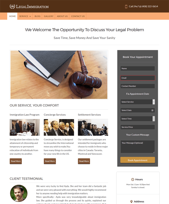 legalimmigation wordpress themes lawyers attorneys legal