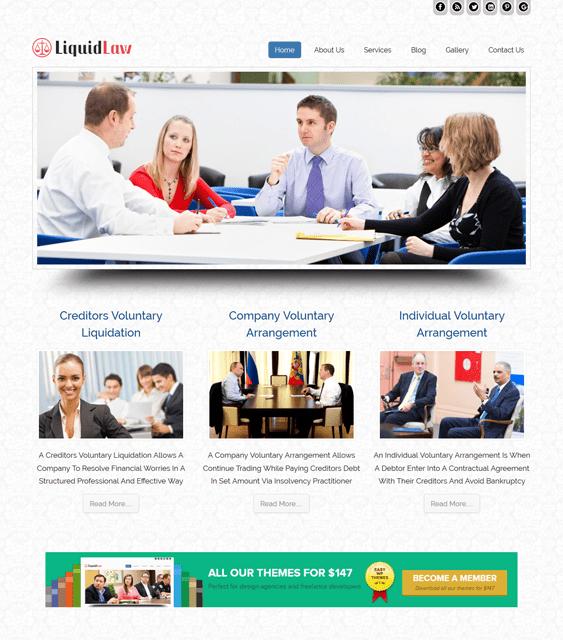 liquidlaw wordpress themes lawyers attorneys legal