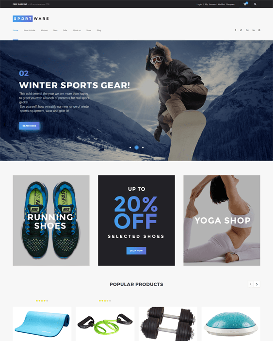 sportware sports wordpress themes