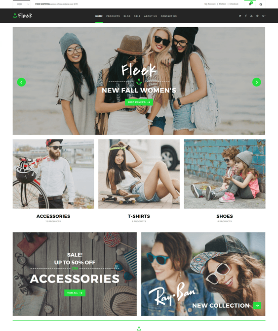 fleek clean shopify themes