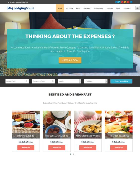 lodginghouse hotel wordpress themes