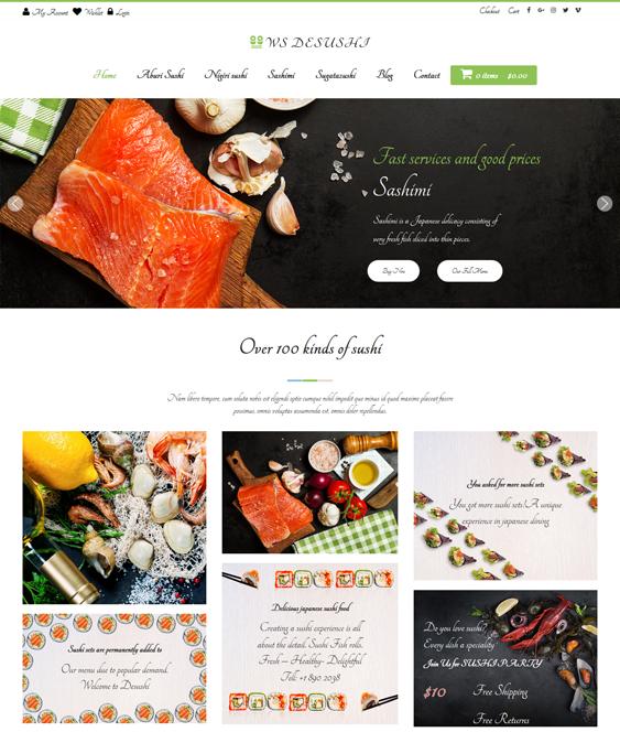 ws desushi Asian Restaurant Responsive WordPress Theme