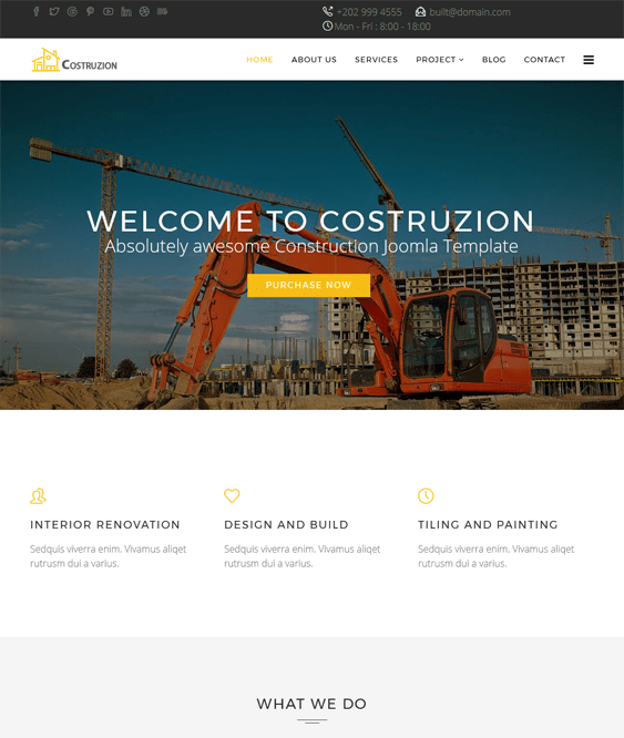 costruzion joomla templates construction companies building contractors