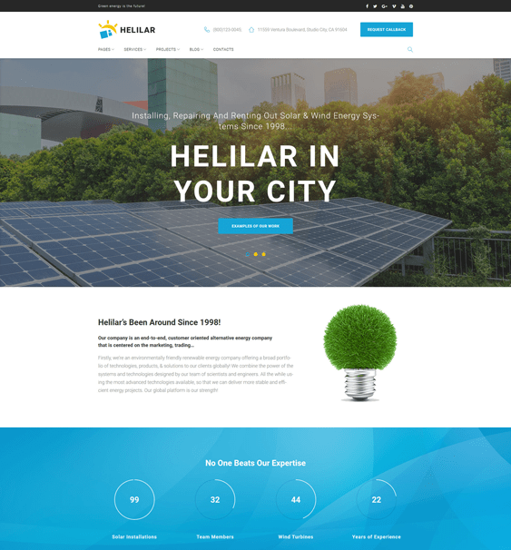 helilar wordpress themes construction companies building contractors