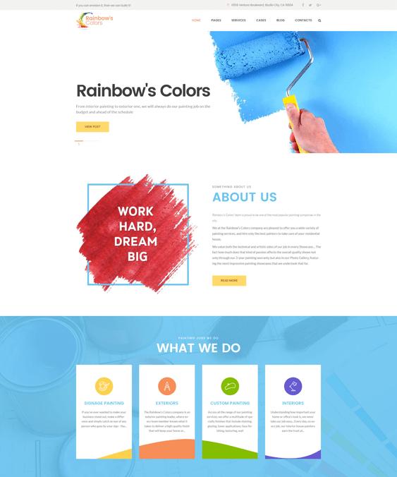 rainbow wordpress themes construction companies building contractors