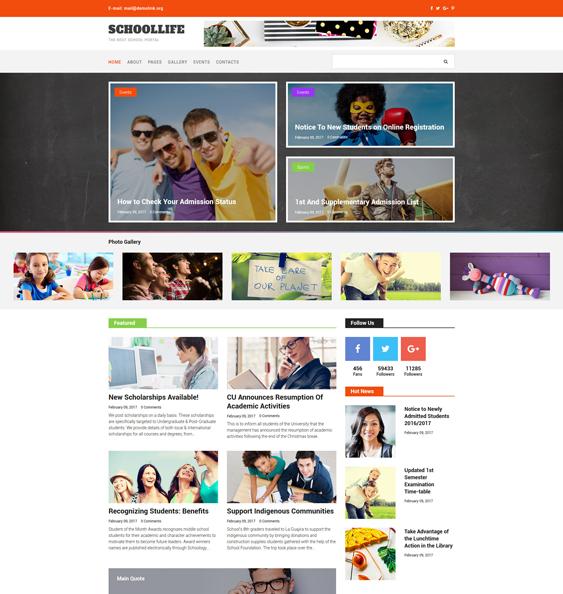 school education joomla templates