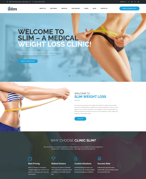 slim medical wordpress themes