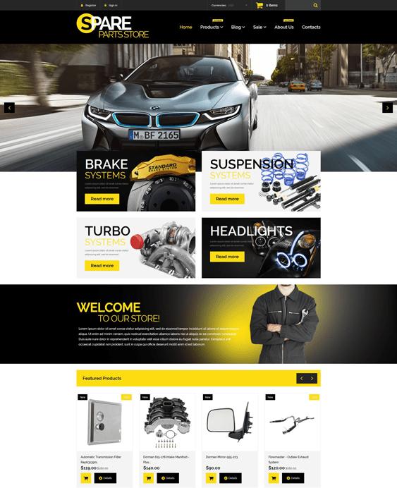 auto-parts-responsive-car vehicle automotive shopify themes