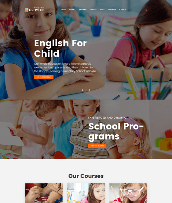 education kids wordpress theme