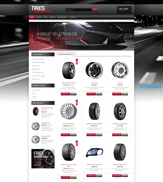 quality-wheels-and-tires-car vehicle automotive shopify themes
