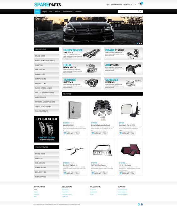 spare-parts-car vehicle automotive shopify themes
