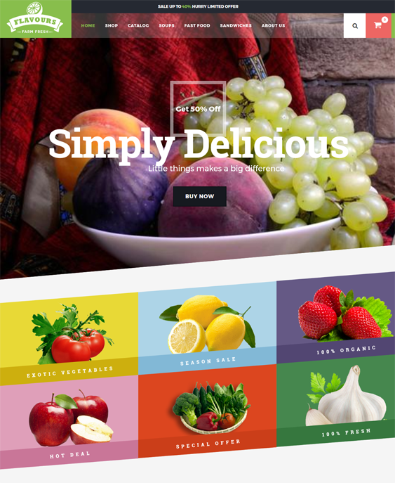 flavours food drink shopify themes