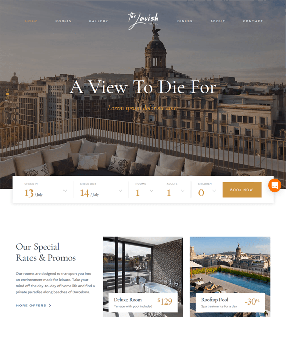 haven hotel wordpress themes