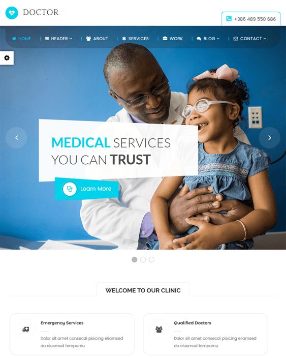 medical wordpress themes doctors clinics feature