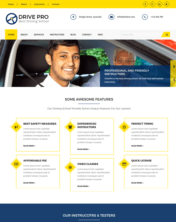 drivepro car, vehicle, and automotive WordPress theme