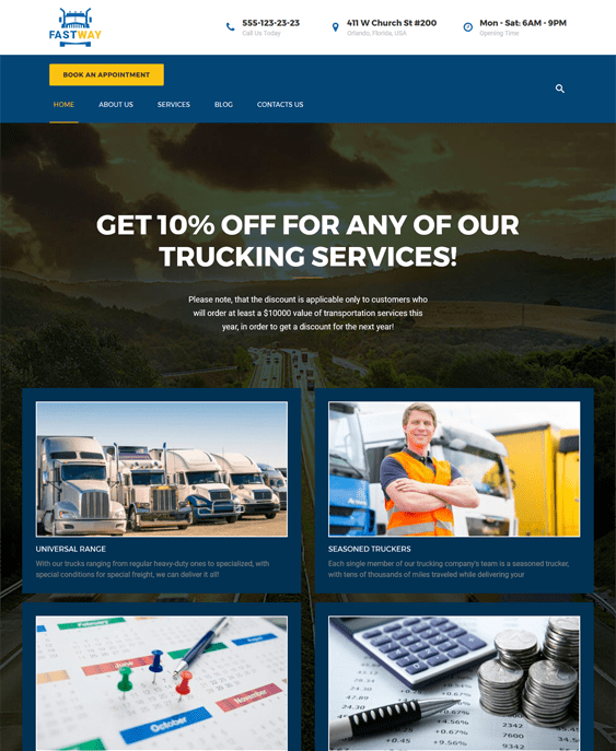 fastway transportation--logistics-wordpress-theme