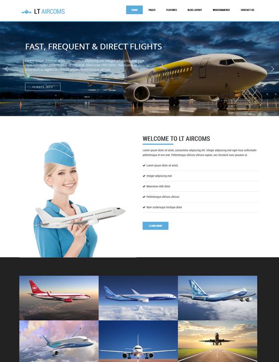 lt aircoms transportation--logistics-wordpress-theme