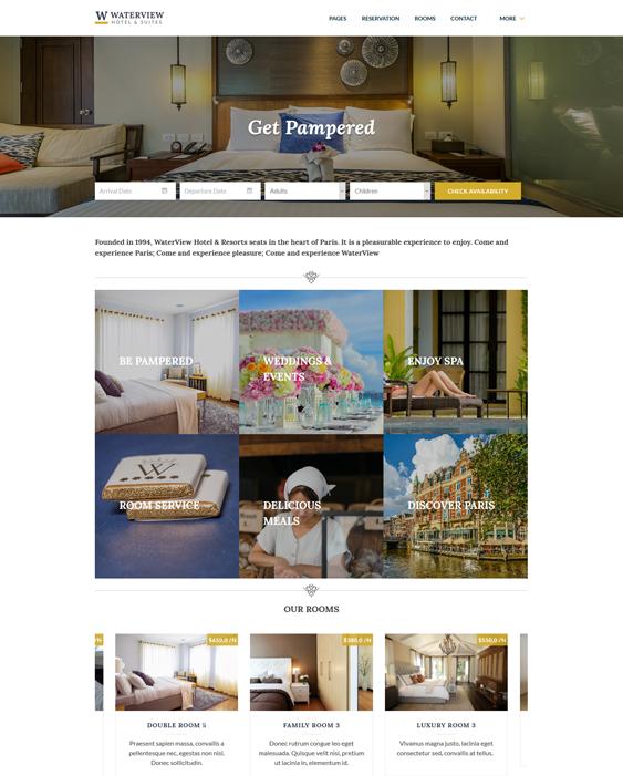 water view hotel-wordpress-theme