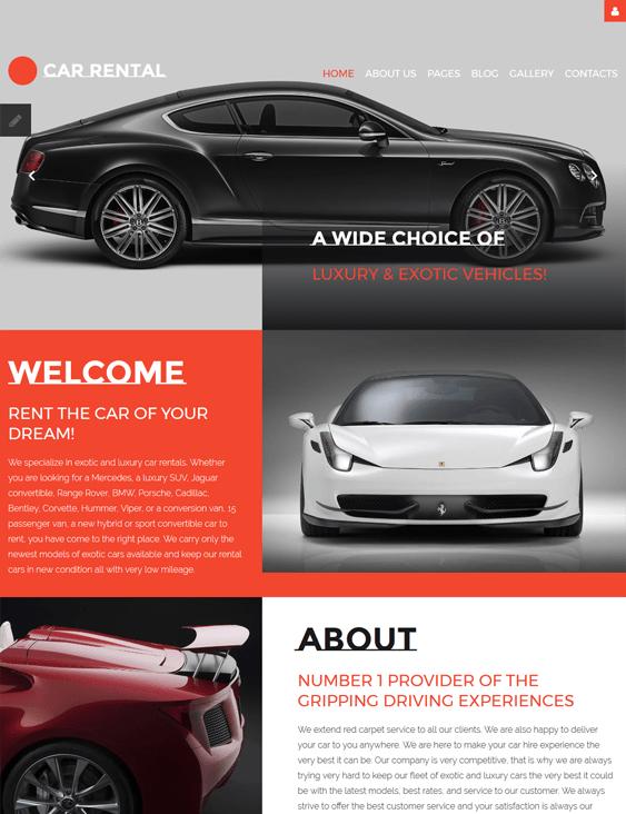 car vehicle automotive joomla templates rental