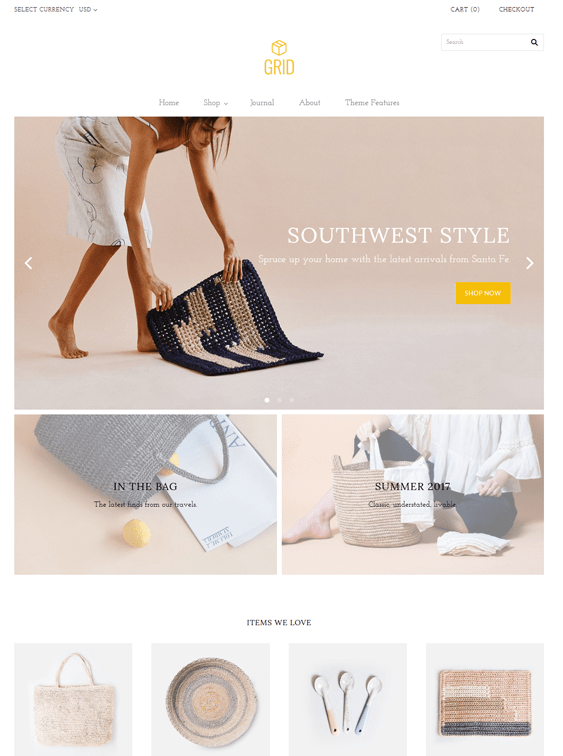 grid shopify themes interior design home decor stores