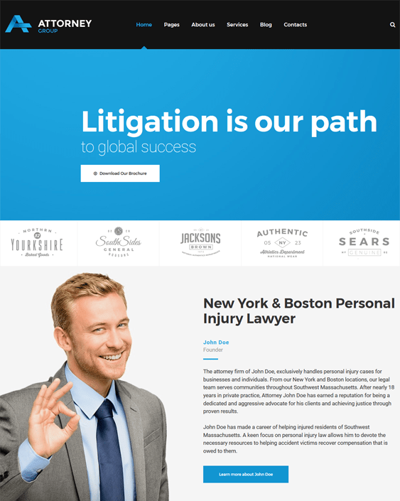lawyers attorneys law firms wordpress themes