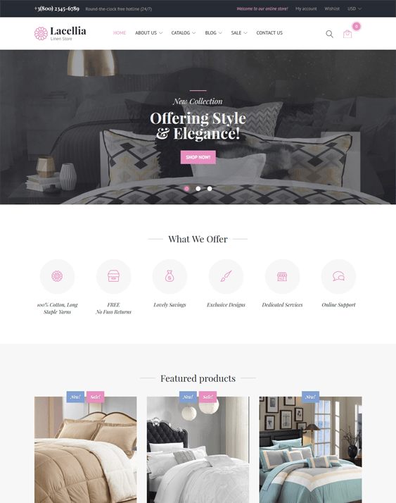 linen shopify themes interior design home decor stores