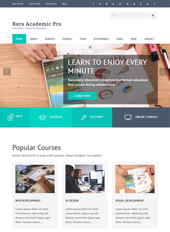 rara education wordpress themes