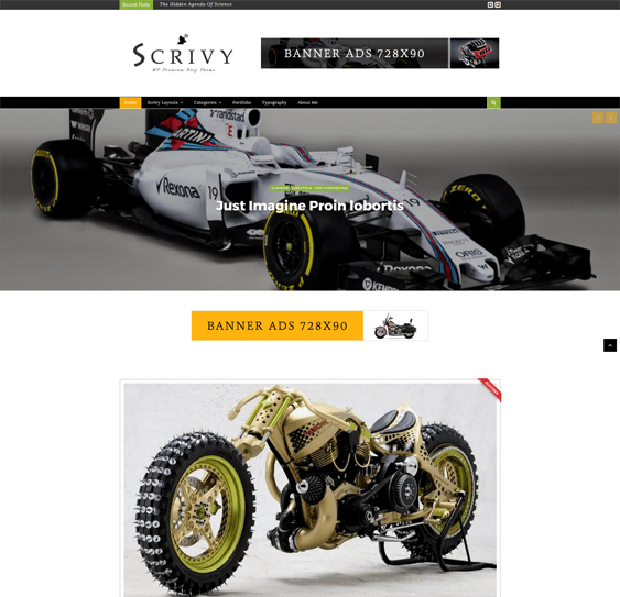 scrivy car vehicle automotive wordpress themes