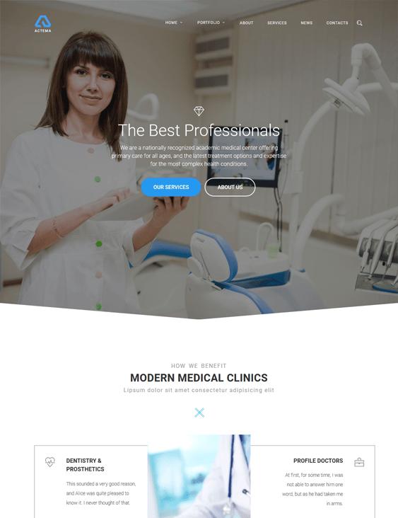 actema medical wordpress themes