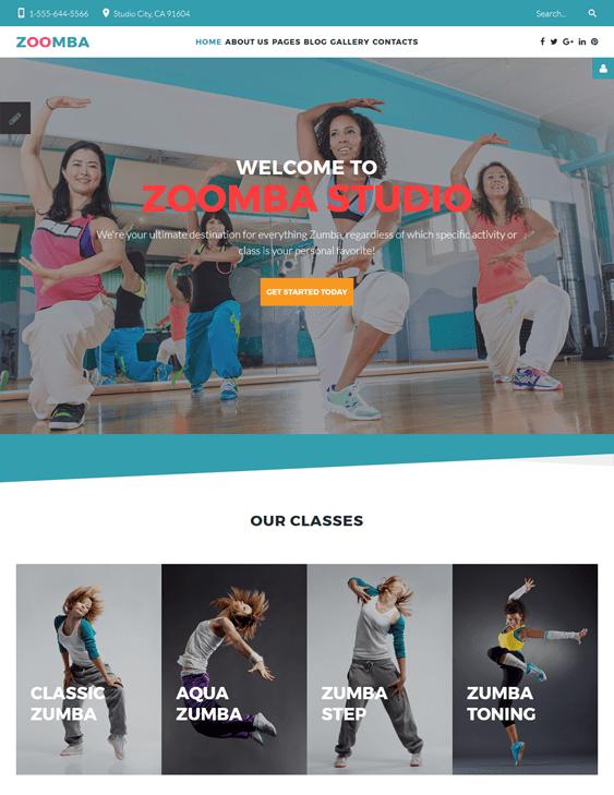 dance fitness wordpress themes