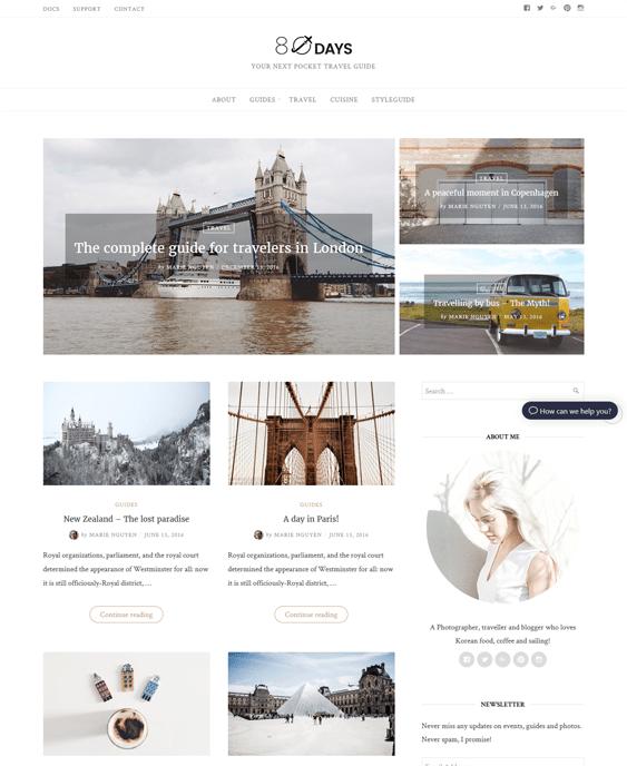 eightydays travel wordpress theme