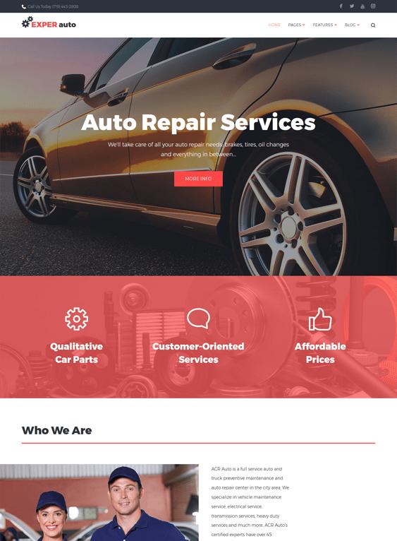 experauto car vehicle automotive wordpress themes
