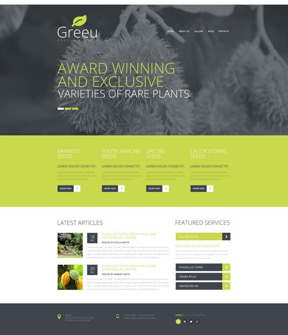 Garden Design Responsive landscaper gardener joomla templates