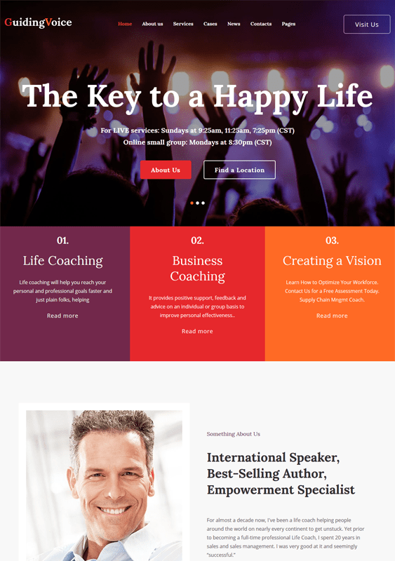 guiding life coach wordpress themes