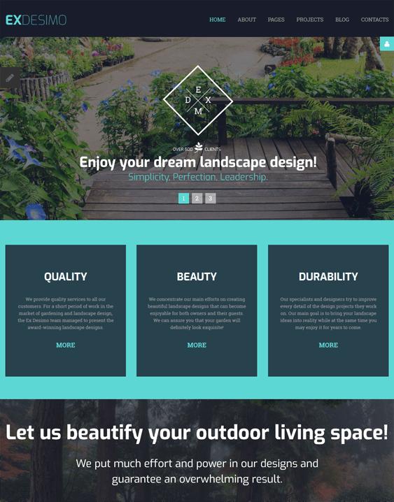 landscape landscaper gardener joomla templates