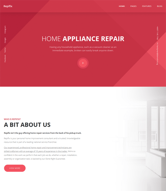 repifix muse interior design wordpress themes