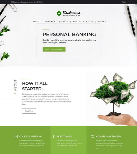 bankorama finance-wordpress-theme